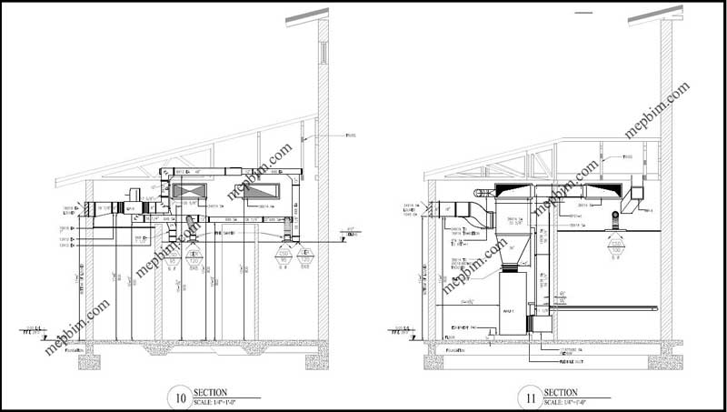 mep shop drawing  fabrication drawing
