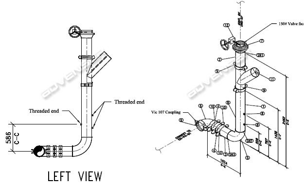 Mechanical piping spool drawing