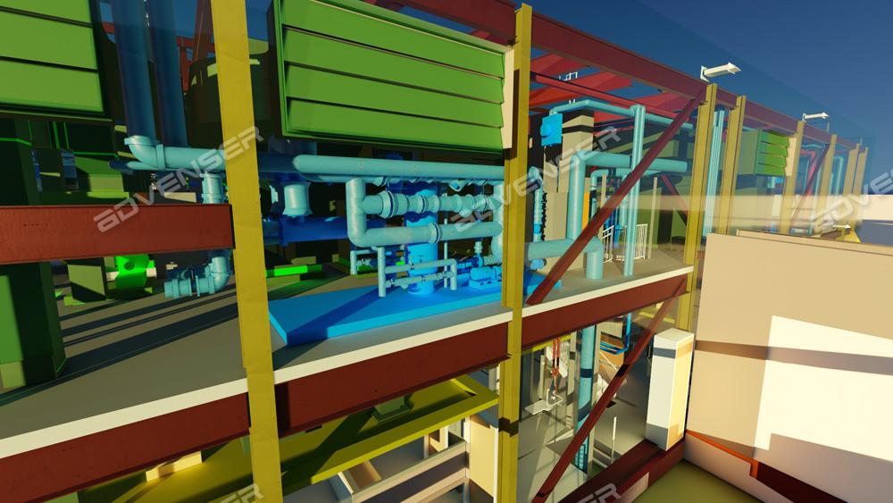 Boiler Room 3D modeling